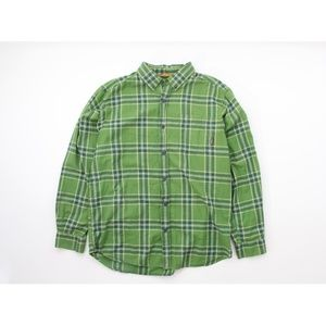 Columbia Plaid Outdoor Hiking Button-Front Shirt